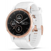 GPS часы навигатор Garmin Fenix 5S Plus Sapphire Rose gold with White Band